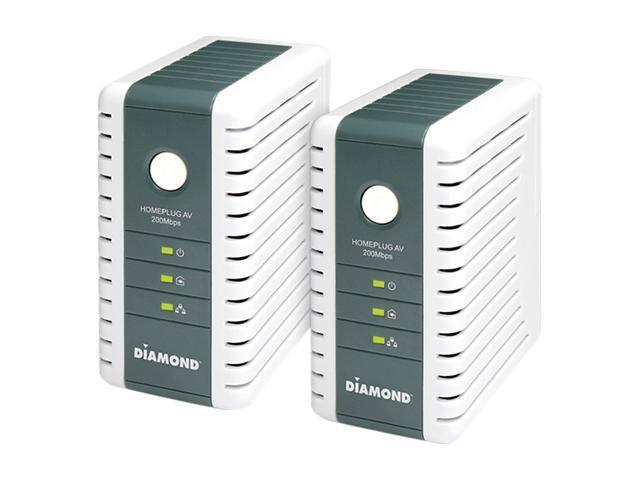 Diamond Multimedia HP200AV Powerline AV Ethernet Adapter Kit