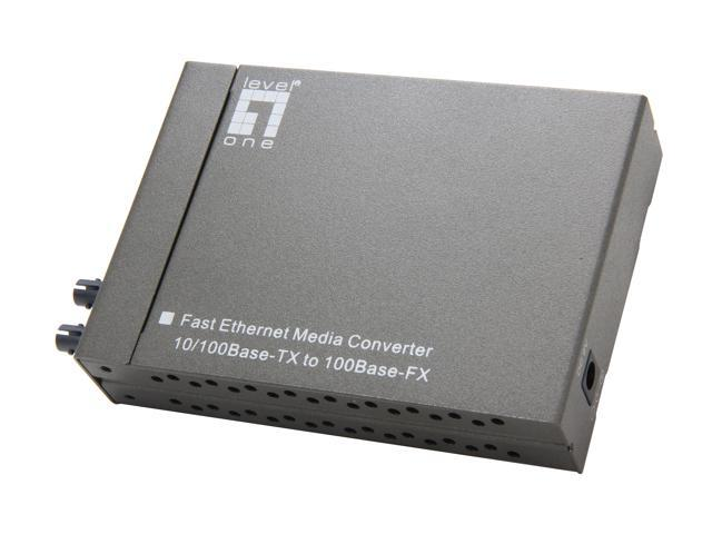 LevelOne FVT-4002 10/100BaseTX to 100FX Media Converter