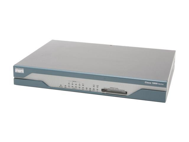 CISCO 1800 CISCO1811/K9 Security Router 2 x 10/100Mbps WAN Ports 8 x 10/100Mbps LAN Ports