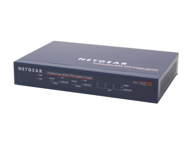 NETGEAR FVS124G Firewall Up to 11.5 Mbps WAN-to-LAN, up to 2.1 Mbps for 3DES throughput