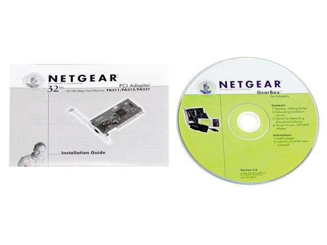 NETGEAR FA311 Network Interface Card 10/ 100Mbps PCI 1 x RJ45