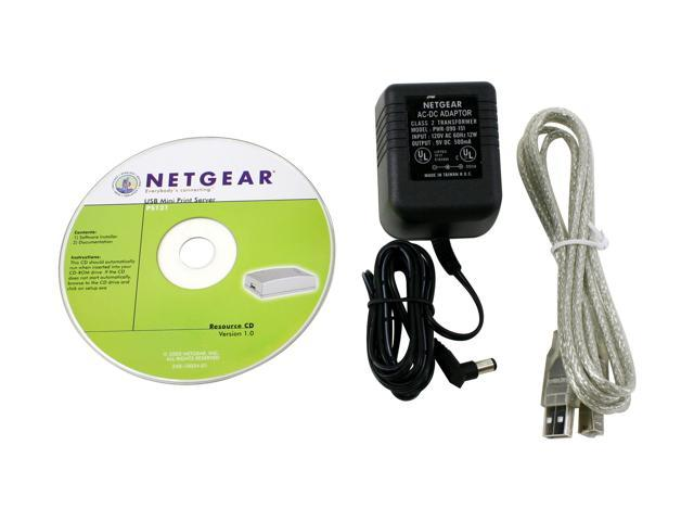 NETGEAR PS121 Print Server RJ45 USB 1.1