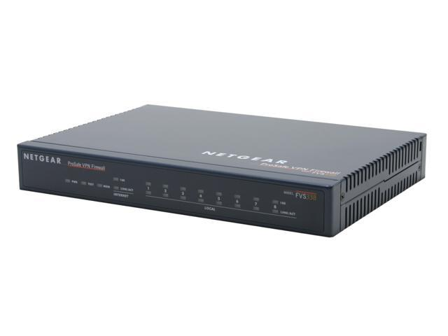 NETGEAR FVS338 Firewall Up to 75 Mbps LAN-to-WAN, up to 19 Mbps for 3DES IPsec tunnel