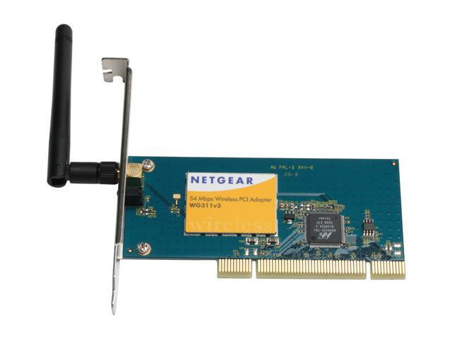 NETGEAR WG311CN Wireless-G PCI Adapter IEEE 802.11b/g 32-bit PCI bus Up to 54Mbps Wireless Data Rates