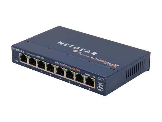 NETGEAR FS108NAR Business Class Desktop Switch