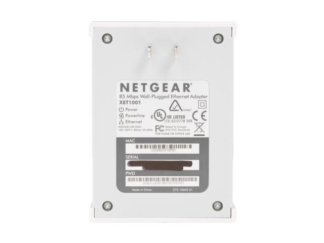 NETGEAR XET1001-100NAR Powerline Network Adapter Up to 85Mbps
