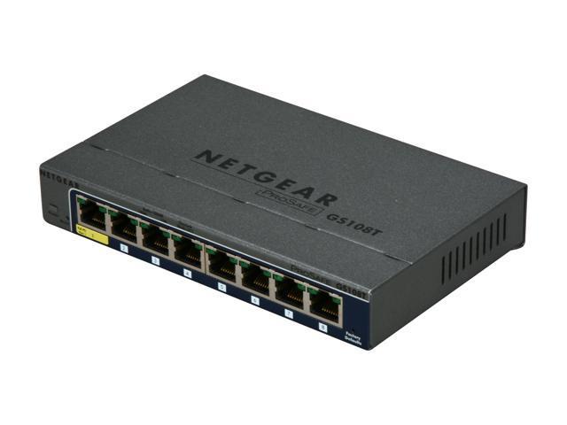 NETGEAR 8 Port Gigabit Smart Switch - Lifetime Warranty (GS108T)