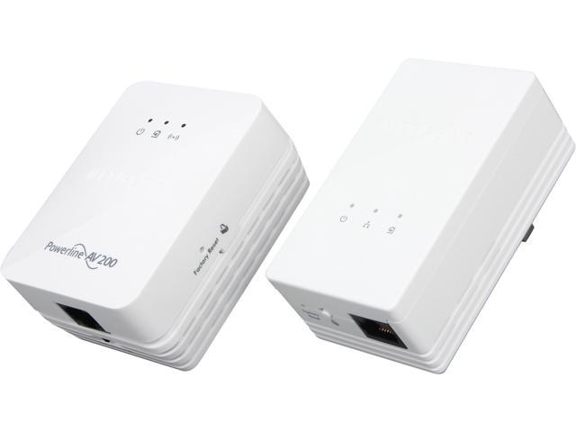 NETGEAR XAVNB2001-100NAS Powerline AV 200 Wireless-N Extender Kit