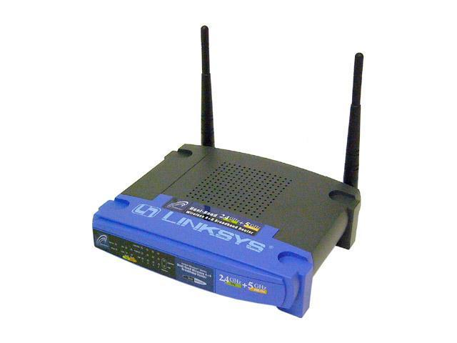 Linksys WRT55AG Dual-Band Wireless A+G Broadband Router IEEE 802.3/3u, IEEE 802.11a/b/g