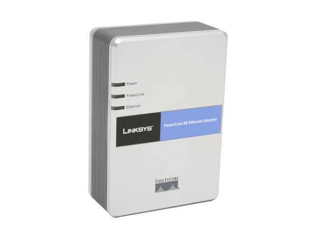 LINKSYS PLE200 PowerLine AV Ethernet Adapter Up to 200Mbps