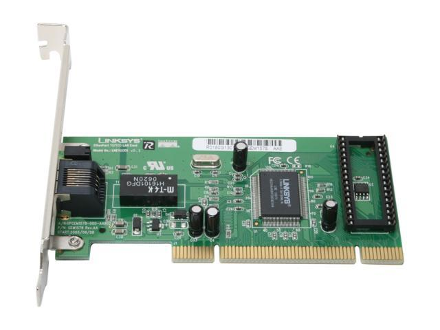 LINKSYS LNE100TX EtherFast LAN Card 10/ 100Mbps PCI 1 x RJ45