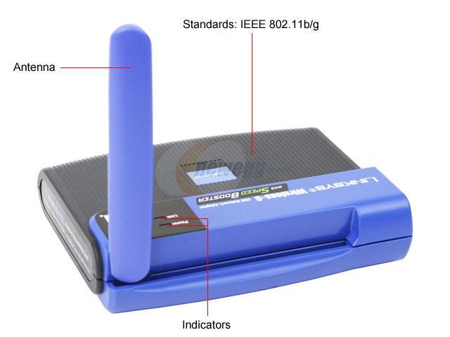 Linksys WUSB54GS Wireless-G Network Adapter with Speedbooster IEEE 802.11b/g USB 2.0 Up to 54Mbps Wireless Data Rates