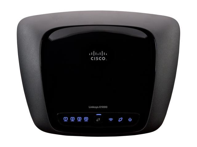 Linksys E1000 802.11b/g/n Wireless Broadband Router up to 300Mbps/ 10/100 Mbps Ethernet Port x4