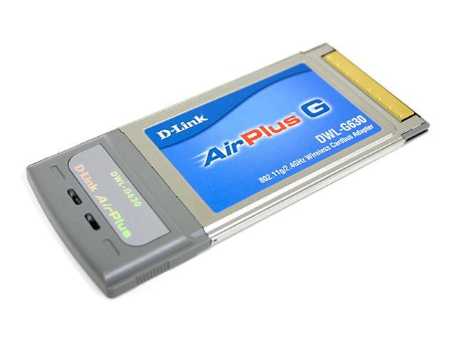 D-Link AirPlus DWL-G630 G High Speed 2.4GHz 802.11g Wireless Cardbus Adapter