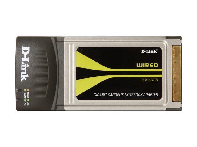 D-Link GigaExpress DGE-660TD 32-bit Gigabit Ethernet Cardbus Notebook Adapter
