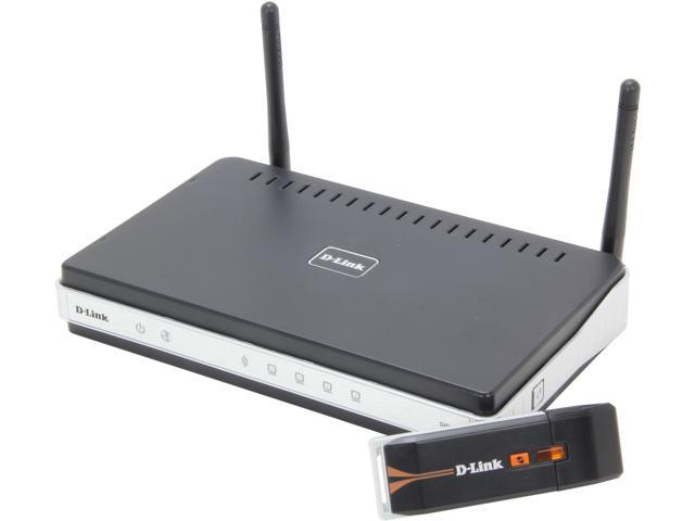 D-Link DKT-408 Wireless N300 Router + Wireless N300 Adapter Combo (DIR-615+DWA-130)