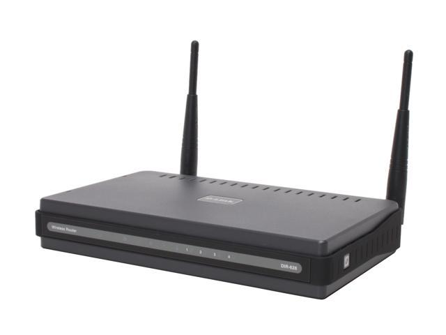 D-Link DIR-628 Wireless N Router 802.11n/g/a, 802.3/3u 2.4/5GHz Selectable Dual-Band RangeBooster up to 300Mbps