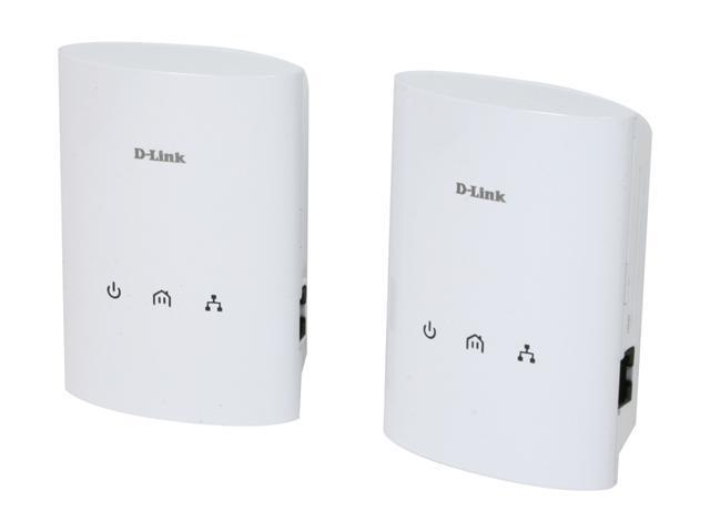 D-Link DHP-307AV 128-bit AES 802.1p QoS Powerline Network Adapter Up to 200Mbps