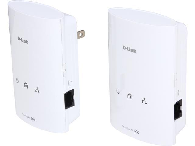 D-Link PowerLine AV 500 Adapter Starter Kit (DHP-501AV) Includes 2 Adapters, Up to 500 Mbps