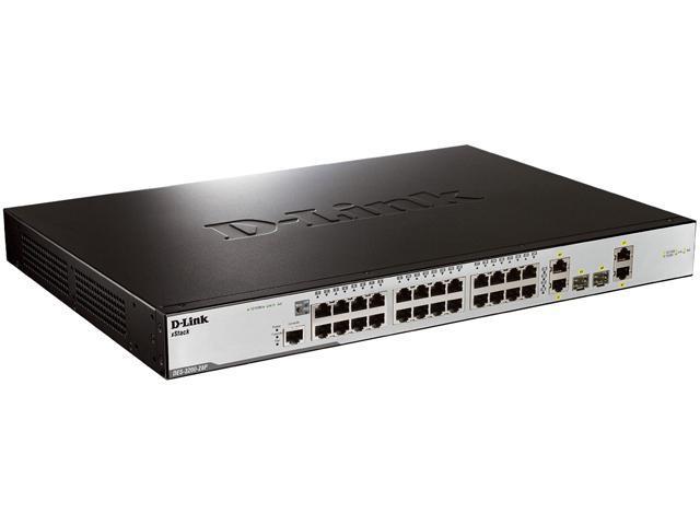 D-Link DES-3200 Series DES-3200-28P Managed Managed PoE Switch