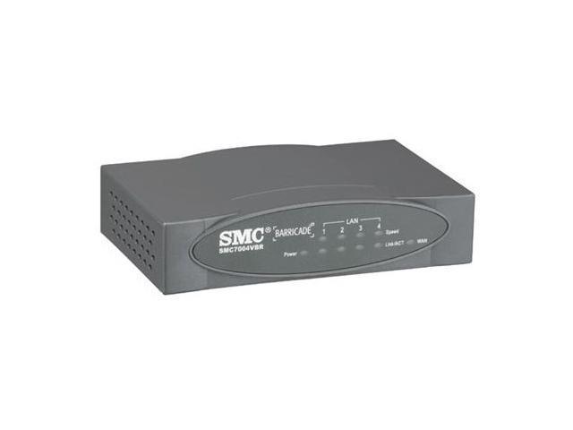 SMC LG-ERICSSON Barricade SMC7004VBR Cable/DSL Broadband Router 1 x 10/100Mbps WAN Ports 4 x 10/100Mbps LAN Ports