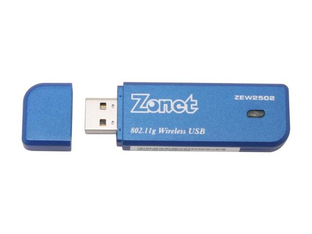 Zonet ZEW2502 802.11g 54Mbps Wireless Adapter IEEE 802.11b/g USB 2.0 Up to 54Mbps Wireless Data Rates WPA2