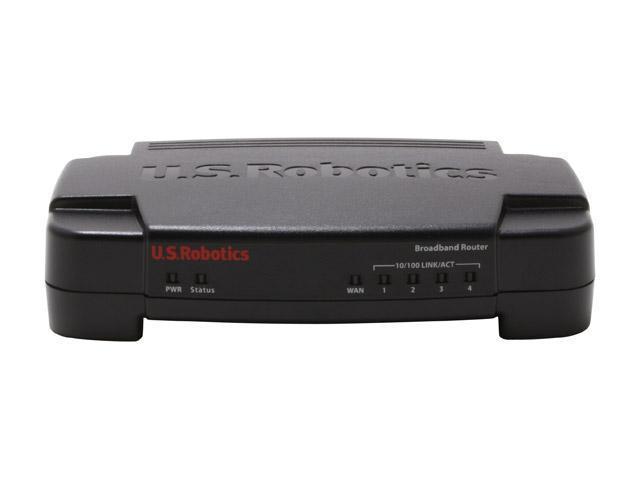 U.S. Robotics USR8004 Broadband Router 1 x 10/100Mbps WAN Ports 4 x 10/100Mbps LAN Ports