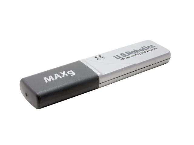U.S. Robotics USR5421 Wireless MAXg USB Adapter IEEE 802.11b/g USB 2.0 Up to 125Mbps Wireless Data Rates WPA2