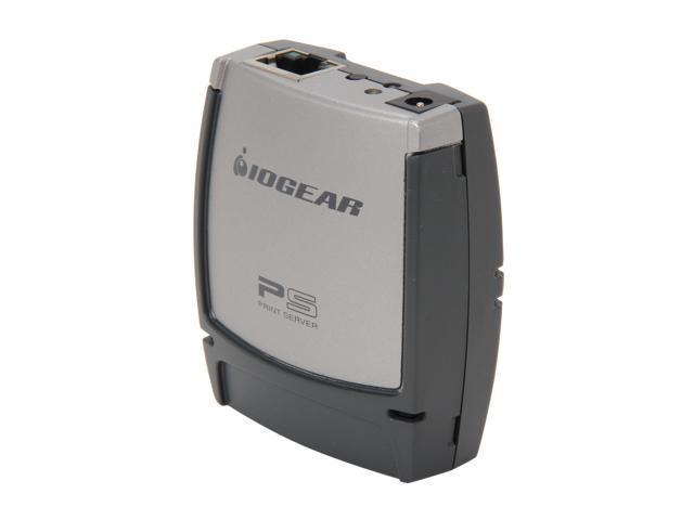 IOGEAR GPSU21W6 1-Port USB 2.0 Print Server - Multi-Language Version