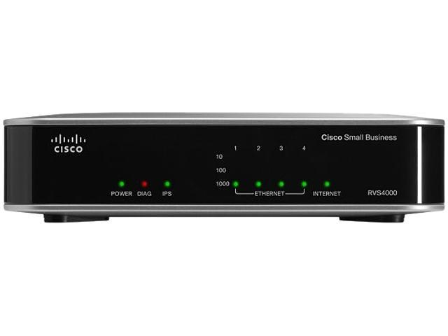 Cisco Small Business RVS4000-RF Gigabit Security Router with VPN 1 x RJ45 WAN Ports 4 x 10/100/1000Mbps LAN Ports