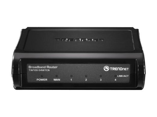 TRENDnet TW100-S4W1CA 10/100Mbps 4-Port Broadband Router