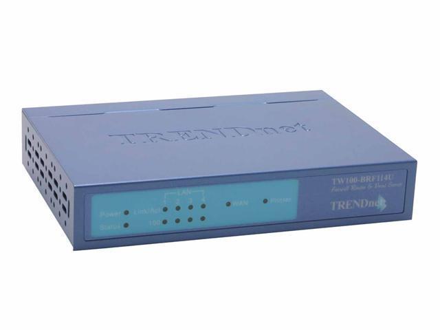 TRENDnet TW100-BRF114U Cable/DSL Firewall Router w/ USB Print Server 1 x 10/100Mbps WAN Ports 4 x 10/100Mbps LAN Ports