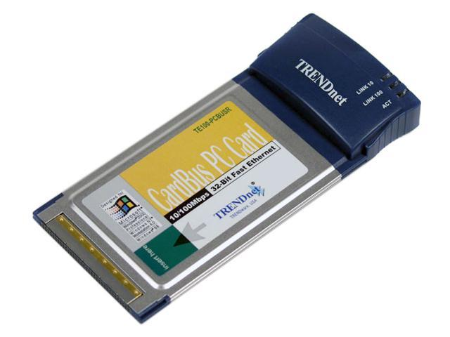 TRENDnet TE100-PCBUSR 10/100Mbps 32-Bit CardBus Fast Ethernet Card with Xpress Port