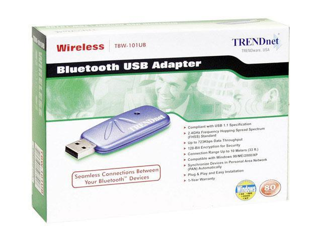 TRENDnet TBW-101UB Bluetooth USB Adapter USB 1.1