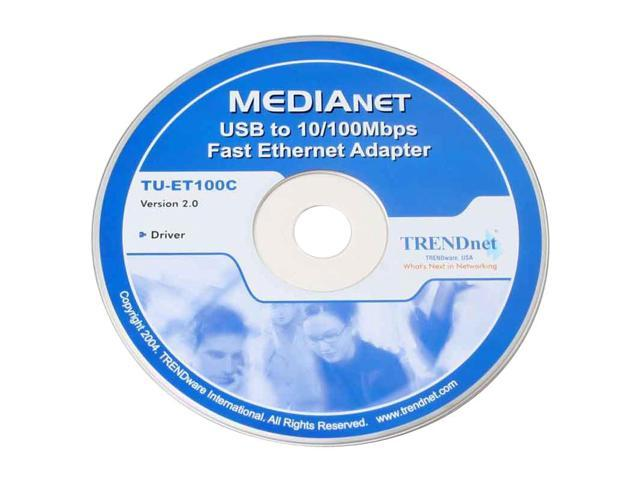 TRENDnet TU-ET100C to Ethernet Adapter 10/ 20/ 100/ 200Mbps USB 1 x RJ45
