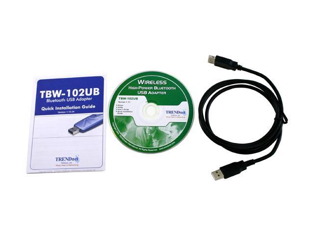 TRENDnet TBW-102UB High-Power Wireless Bluetooth Adapter USB 1.1