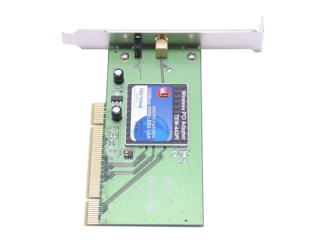 TRENDnet TEW-443PI Wireless Adapter IEEE 802.11b/g 32-bit PCI 2.2 Bus Master Up to 108Mbps Wireless Data Rates WPA
