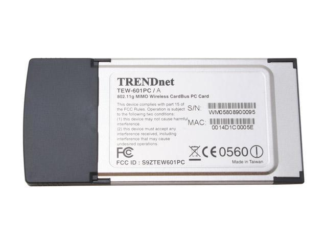 TRENDnet TEW-601PC 108Mbps 802.11g MIMO Wireless PC Card