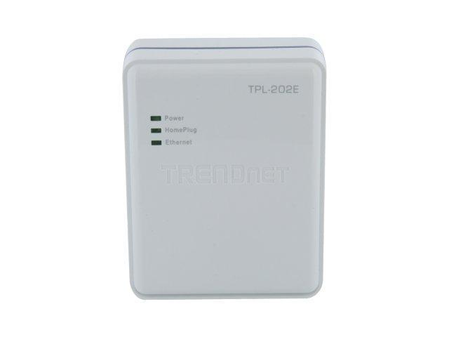 TRENDnet TPL-202E Powerline Fast Ethernet Bridge Up to 85Mbps