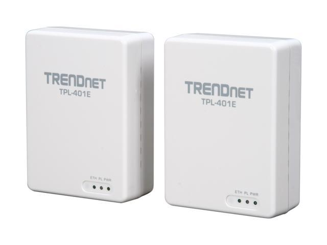 TRENDnet TPL-401E2K Powerline 500 AV Gigabit Adapter Kit Up to 500Mbps