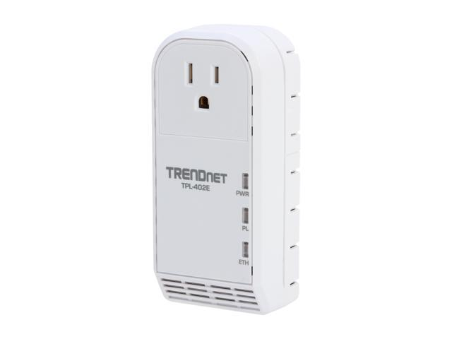TRENDnet TPL-402E Powerline AV Adapter with Bonus Outlet