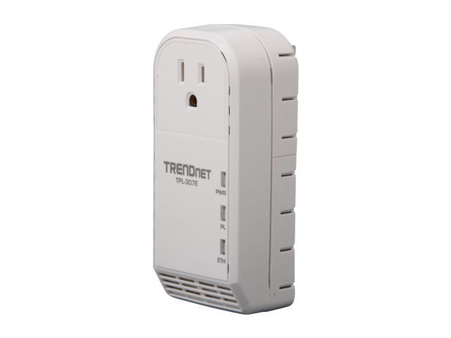 TRENDnet TPL-307E Powerline AV Adapter with Bonus Outlet