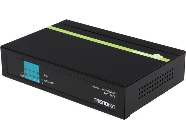 TRENDnet TPE-TG50g Switches  4 to 10 Ports 5-Port Gigabit PoE+ Switch