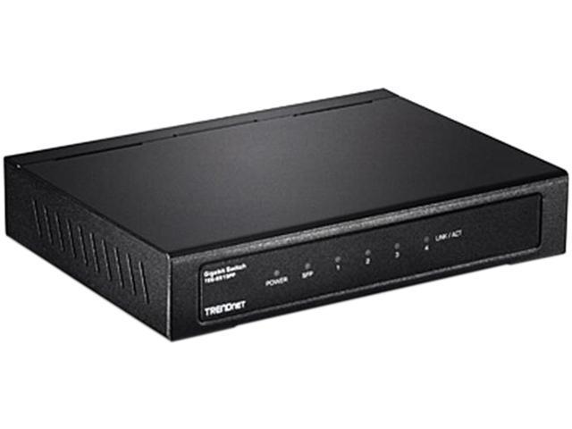 TRENDnet 4-Port Gigabit Switch with SFP Slot