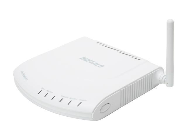 BUFFALO WHR-G125 Wireless-G High Speed Router & Access Point IEEE 802.3/3u, IEEE 802.11b/g