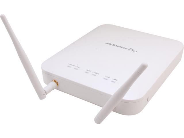 BUFFALO AirStation Pro 802.11n Plenum-Rated Gigabit Dual Band PoE Wireless Access Point - WAPS-AG300H