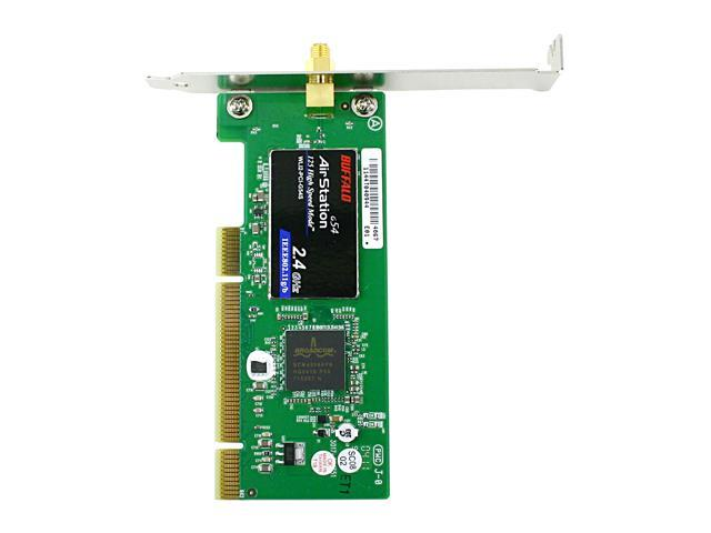 BUFFALO WLI2-PCI-G54S Wireless-G 125 High-Speed Adapter IEEE 802.11b/g 32-Bit PCI Bus Up to 125Mbps Wireless Data Rates WPA