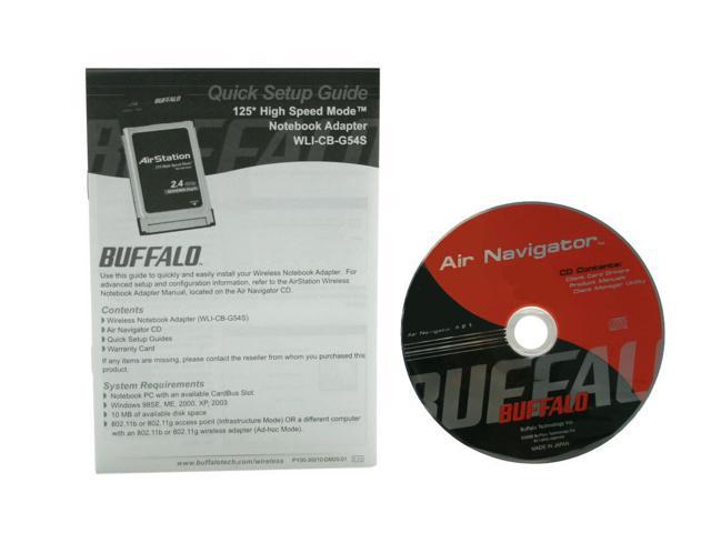 BUFFALO WLI-CB-G54S AirStation Wireless-G 125 High-Speed Notebook Adapter