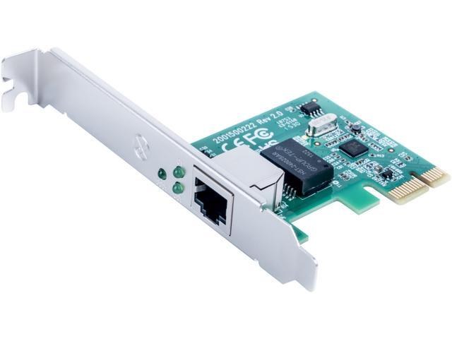 Rosewill RC-411v2 - Network Adapter 10/100/1000 Mbps PCI-Express 1 x RJ45