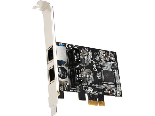Rosewill RNG-407-Dualv2 PCI-Express Dual Port Gigabit Ethernet Network Adapter 2 x RJ45